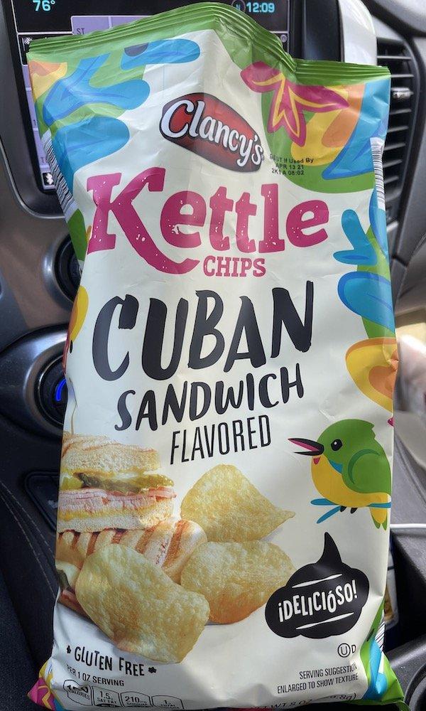Clancy's Cuban Sandwich Potato Chips bag