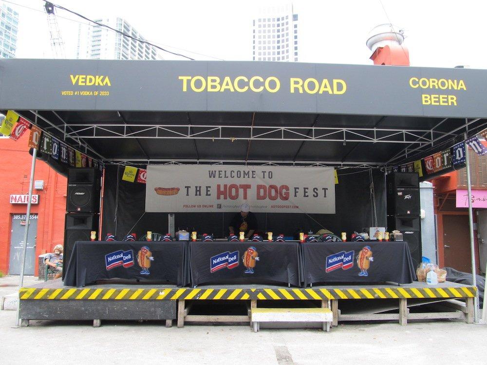 Stage at Hot Dog Fest 2013