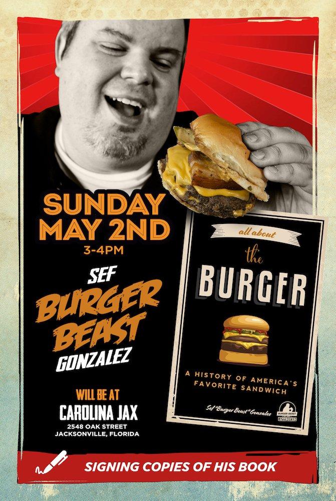 Burger Beast Book Signing at Carolina Jax