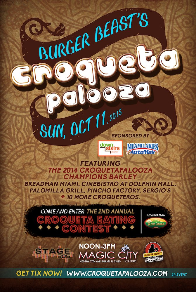2015 Croqueta Palooza Poster