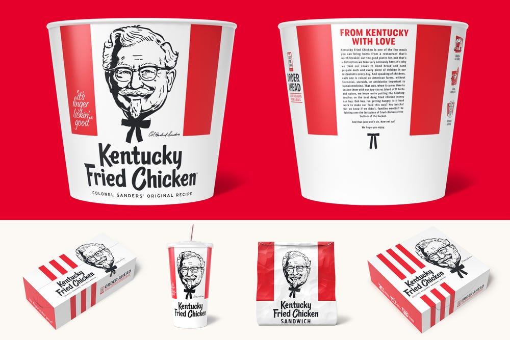 Kentucky Fried Chicken Updated Packaging