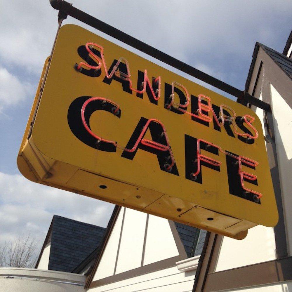 Sanders Cafe Sign outside the KFC Restaurant & Museum