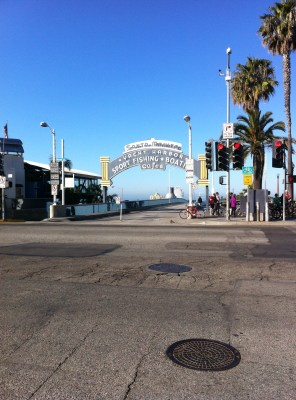 Start of Santa Monica Feeder Ride at the Pier