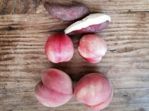 White Sweet Potato (Japanese), White Nectarine, White Peach