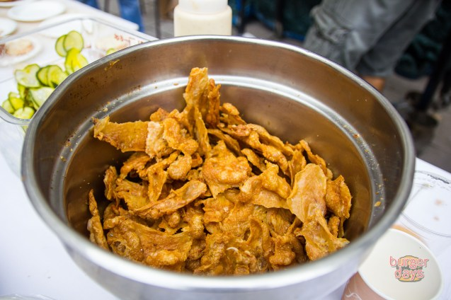 A bucket of fried chicken skins. What's that? Well, of course we're drooling.