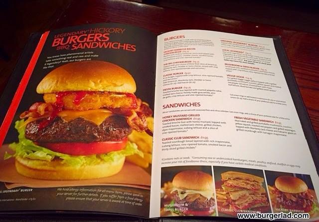 Hard Rock Cafe Original Legendary Burger Calories