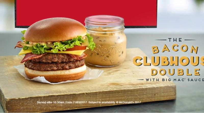 McDonald's Bacon Clubhouse Double