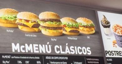 McDonald's Spain Menu Prices