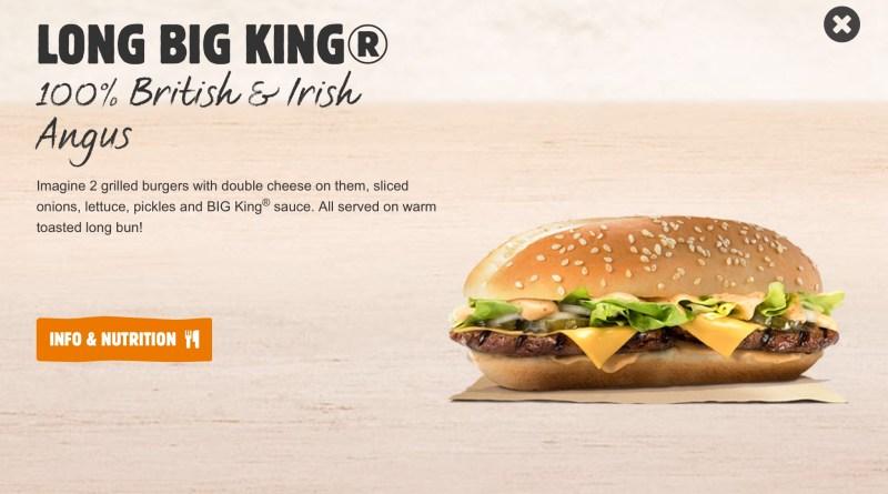 Burger King Long Big King