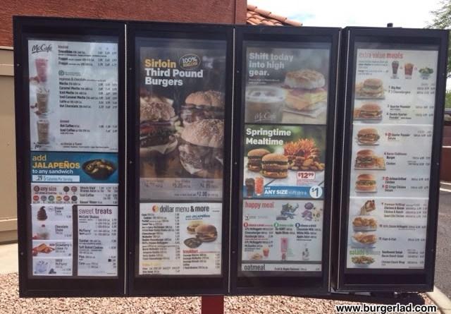 McDonald's USA Prices