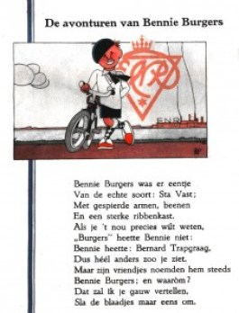 bladzijde uit het boekje over Bennie Burgers
