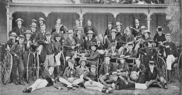 """Deventer Velocipede club """"Immer Weiter"""" in 1871."""