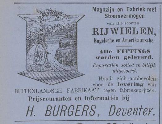 burgers adv. kampioen aug 1885 levert buitenlands fabrikaat