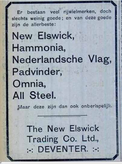 Advertentie Burgers. kampioen 7 aug 1914