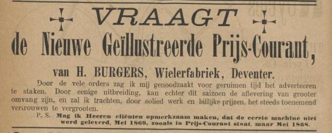 Advertentie in De Kampioen van 1 juni 1889.