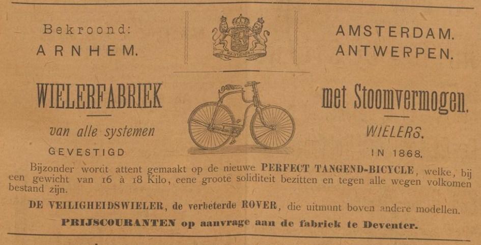 Advertentie Burgers. burgers adv. Kampioen febr. 1887 vroege safety