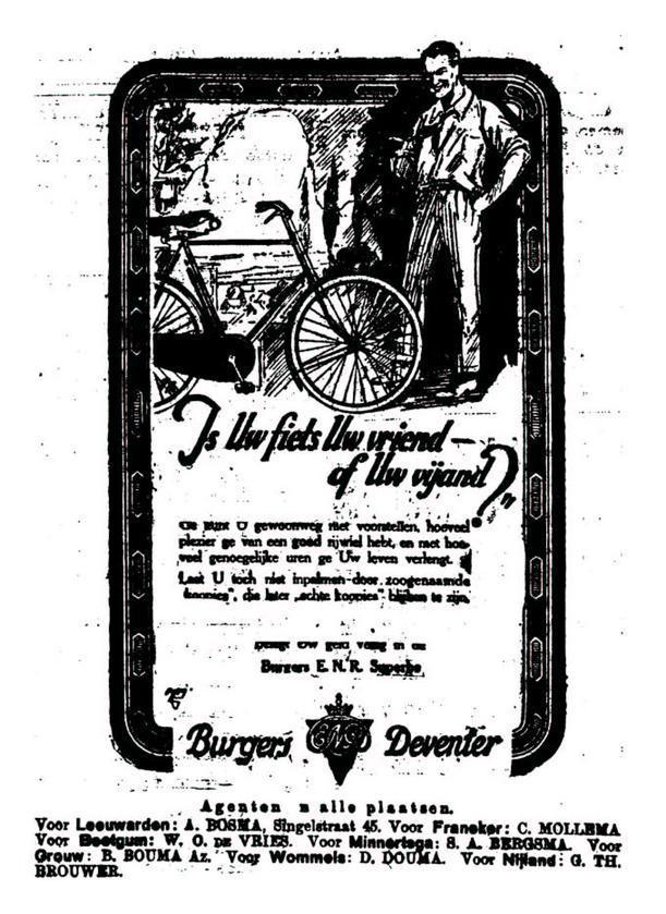 Advertentie Burgers. leeuw cour. 05-06-1924