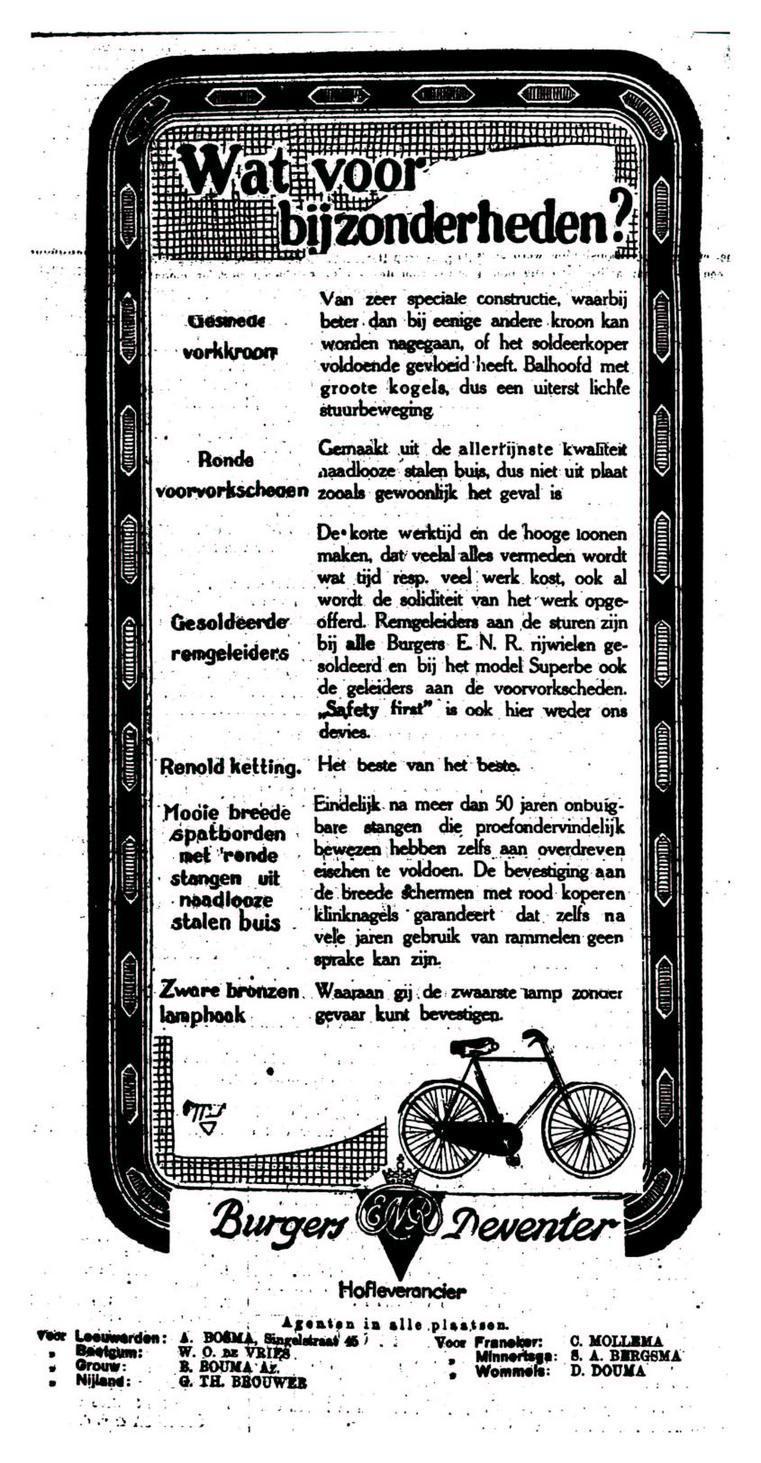 Advertentie Burgers. leeuw cour. 26-05-1924