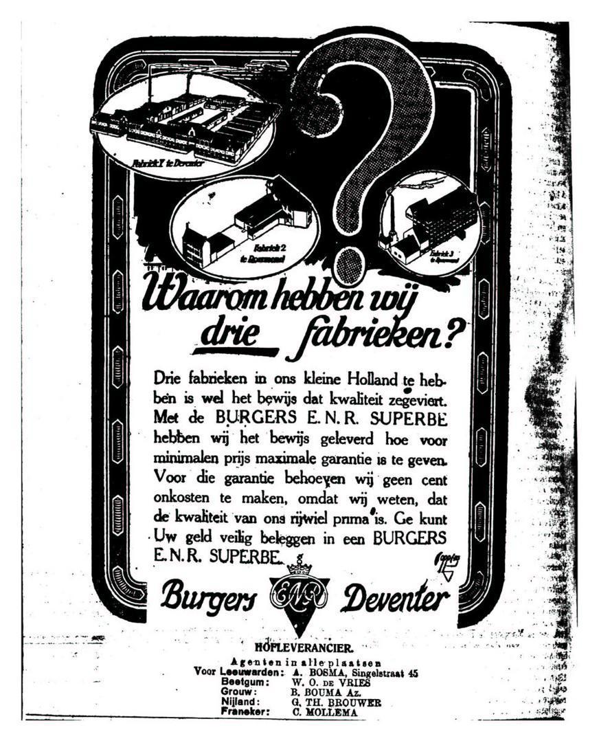 Advertentie Burgers. leeuw. cour. 19-04-1924