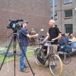 voorzitter Maarten Bokslag wordt geintervieuwd door TV Roermond