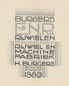Voorblad prijscourant 1928.
