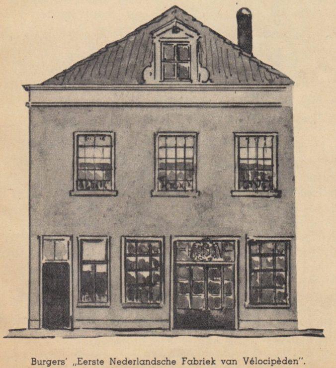 Broederenstraat 6 omstreeks 1868 (Hogenkamp 1939).