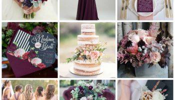 Navy Blue & Plum Wedding Inspiration - Burgh Brides