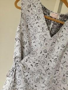 Patio Wrap Dress, waist detail