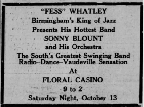 Whatley presents Sonny Blount, Kingsport Times 12 Oct 1934