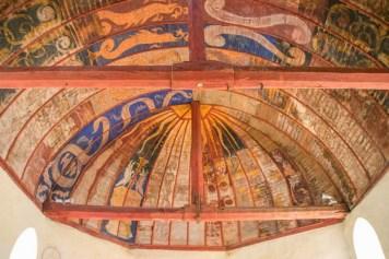 Peinture murales de la voûte de la chapelle Saint-Baudel, Pourrain, Yonne.