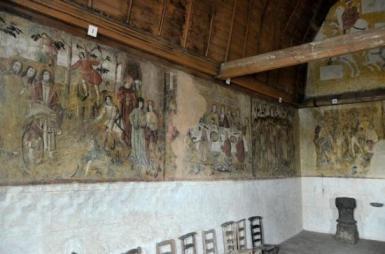 Peintures murales de la chapelle Sainte Anne, XVIè siècle, Saint-Fargeau. ©www.petit-patrimoine.com