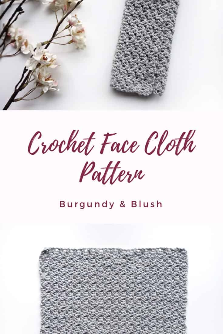 Crochet face cloth pattern