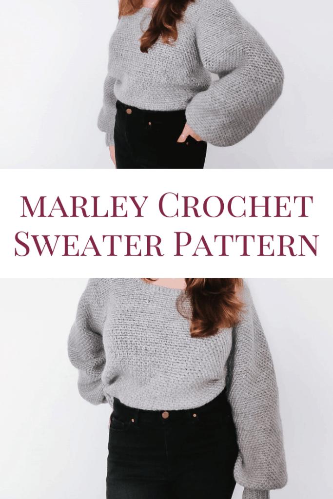 Marley Crochet Sweater Pattern