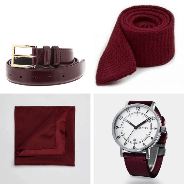 Burgundy Accessories full outfits for guys mens dressing styles formal boy street style