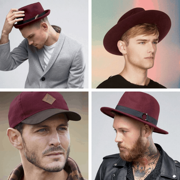 Men Burgundy Hats full outfits for guys casual wear for men pictures mens fashion casual casual style mens