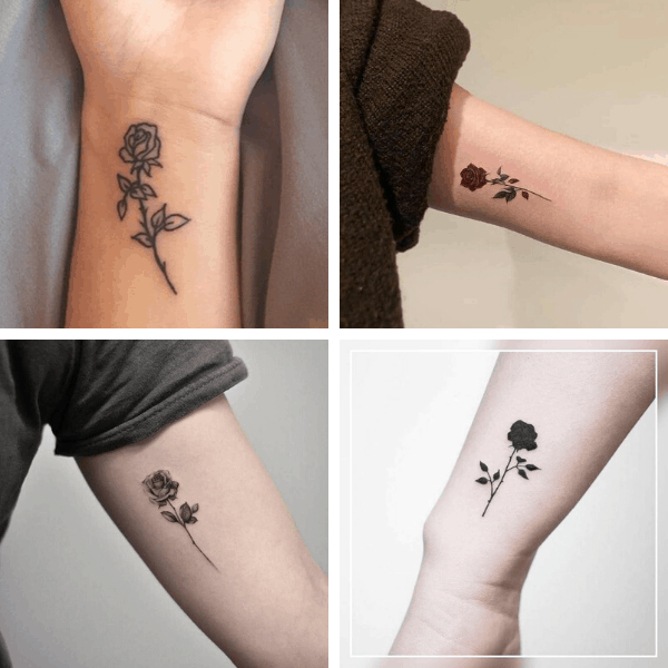 small rose tattoos on arm small rose tattoo on wrist meaning rose tattoo on wrist with name blooming rose tattoo