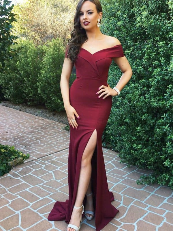 27+ Affordable Pretty Burgundy Bridesmaid Dresses From Amazon To Get For 2020 Weddings
