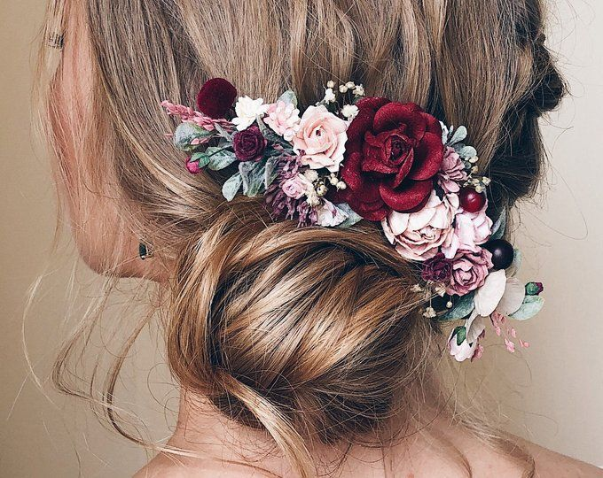 Here Is An Ultimate Guide Towards The Most Unique Burgundy Wedding Hair Style : Medusa And Glass Of Bubbly (2021)