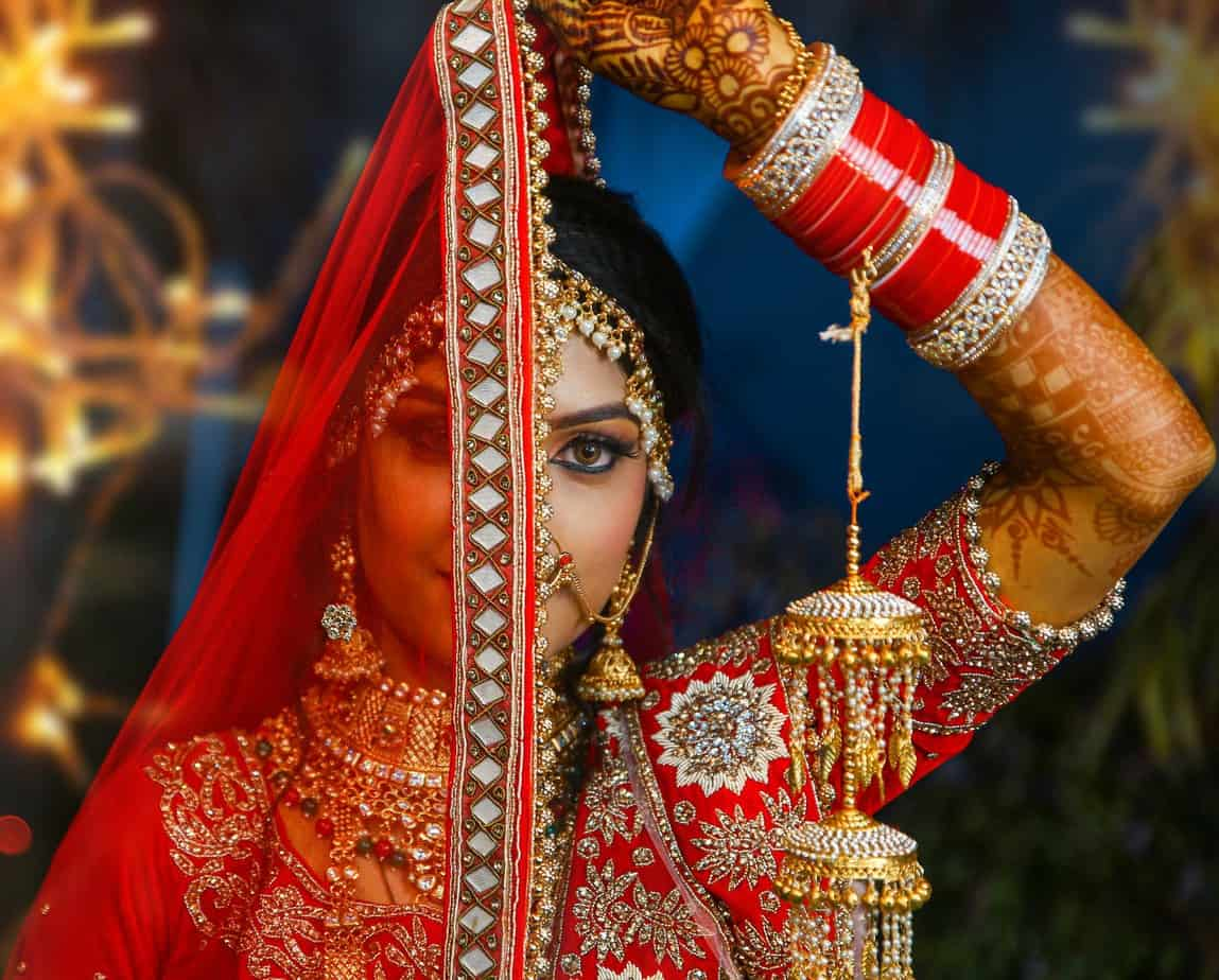 Burgundy Wedding Dress : Different Types Of Beautiful And Unique Indian Clothing Line for Your Big Day (2021)