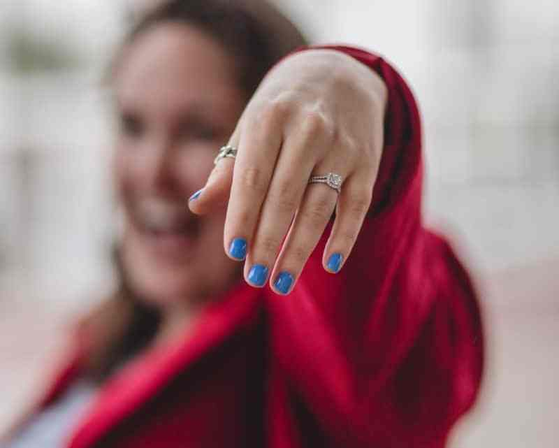 This is a photo of when a family friend got engaged! How fun!