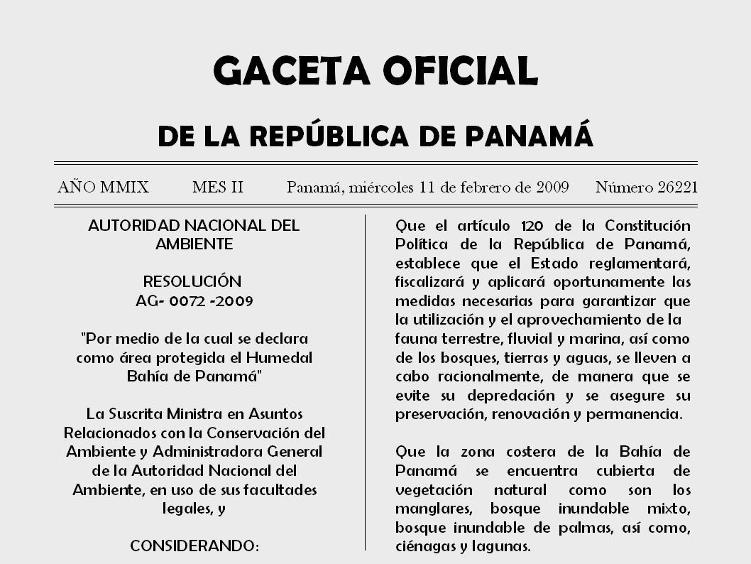 Texto oficial de la Declaración del Sitio como Refugio de Vida Silvestre