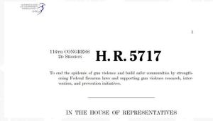 If Anti-gun Democrats Win in November, They'll Pass H.R. 5717 and Gut the Second Amendment.  (Don't Think so?  Bet you also didn't think we would all be locked down, did you?)