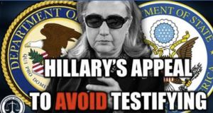 Tom Fitton: State Dept. & DOJ Snub Hillary Clinton's Appeal to Avoid Testifying on Email Usage