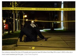 82 shot, 22 fatally, over Chicago's most violent weekend of 2020: Black Lives Matter Silent.