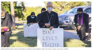 The first Catholic bishop to take the knee at a Black Lives Matter rally got a call from Pope Francis (Bergoglio)