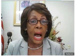 MAD MAXINE OFF HER MEDS: Endorses Biden. Trump 'Talking About Killing Young White Children'