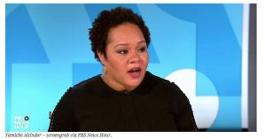 "YOU WILL KNOW THEM BY THEIR TWEETS: ""These people are anarchists,"" President Trump says without providing any evidence.  Yamiche Alcindor, PBS unbiased 'Journalist'."