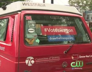Philadelphia Sends Out 'Voteswagon' to Collect Thousands of Mail-In Votes