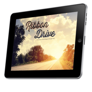 A mockup of a tablet that is displaying the Ribbon Drive PDF cover.