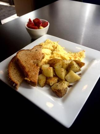 Fresh Fruit, Potatoes, Eggs and Toast